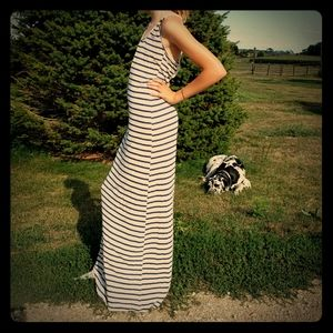 Rue 21 Maxi Striped Lace Detail Sleeveless Blue S